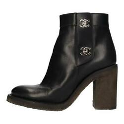 Turnlock Boots Heel Coco Mark Black 36 Women And039s 20005460ao