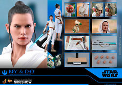 Hot Toys Star Wars Mms559 The Rise Of Skywalker Rey And D-o 16 Figure Sealed