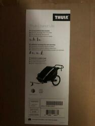 Thule Chariot Lite 2 Compact Fold Baby Double Multisport Bicycle Trailer Agave