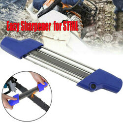 2 In 1 Easy File Chainsaw Chain Saw Teeth Sharpener Parts 0.325 4.8mm For Stihl