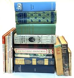 Lot Of 17 Vintage Cookbooks Rare French Italian Antique Whitehouse Cook Book