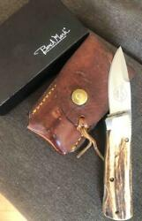 Vintage Gerber Bench Mark Stag Rolox Knife In Box Unused