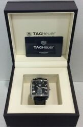 Tag Heuer Monaco Waw131a Leather Strap Menand039s Watch