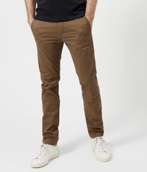 New Ted Baker Brown Procor Slim Fit Chino Trousers Pants Size 38l 38 / 33