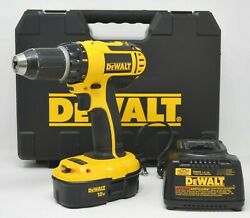 Dewalt • 18v Dc720 Cordless Drill Driver W/ Battery Charger And Case