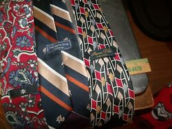 Lot Of 3 - Vintage Neck Ties Marco Polo  Mens Shop Jcpennies