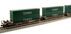 Kato Bnsf Gunderson Maxi-i Double Stack Car W/ 40' Mol Containers 106-6153