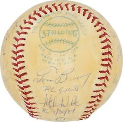 Mlb Perfect Game Pitchers Signed Toned Ball With 12 Sigs And Inscs - Psa V06202