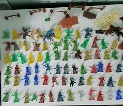 Lot Of Vintage Plastic Marx, Mpc, Tim-mee Toys Cowboys, Indians And Horses 110