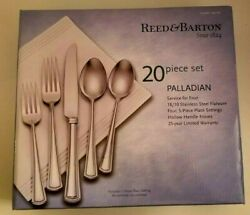 Reed And Barton Palladian Flatware/silverware Set 18/10 Stainless Classic Contempo