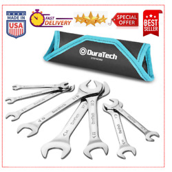 Duratech Super-thin Open End Wrench Set, Metric, 8-piece, 5.5mm To 27 Mm Big Hot
