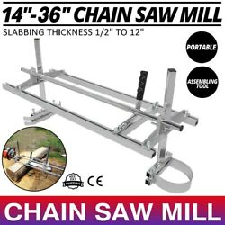 Portable Chainsaw Mill 14-36 Chain Saw Mill Aluminum Steel Planking Lumber