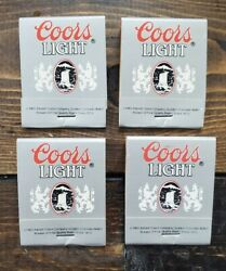 Vtg 1983 Adolph Coors Light Beer Matchbook Matches Unstruck Unused Lot Of 4