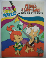 1980 Fintstones Pebbles And Bamm-bamm A Day At The Fair Paint With Water Book