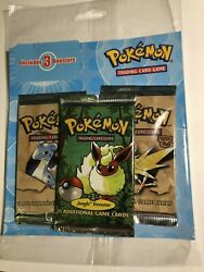 Pokemon Vintage Fossil X2 And Jungle X1 Sealed Unweighable Blister Cheap Auction
