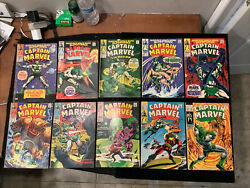 Captain Marvel Lot Andrsquos 1-10 X10 Silver Age Issues