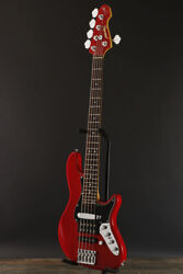 Used Atelier Z Jino5 Red Electric Bass Guitar From Japan