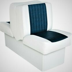 Wise 8wd707p-1-924 Deluxe Series Lounge Seat, White-navy Freeship