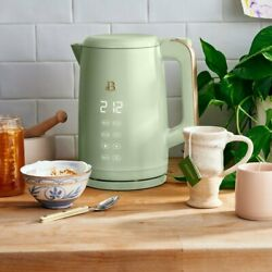 New Beautiful 1.7l One-touch Electric Kettle Sage Green By Drew Barrymore