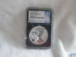 2019 S Enhanced Reverse Proof Silver Eagle Ngc Pf 70 Coa First Day Of Issue