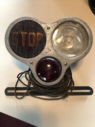 1920s 1930s Buick Packard Studebaker Triple Stop Tail Light Assembly