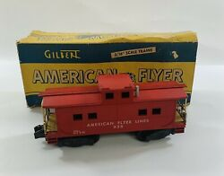 """American Flyer Caboose 938 3/16"""" Scale With Original Box"""