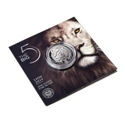 2019 South Africa 1 Oz Silver 5 Rand The Big Five Lion Factory Sealed Coin