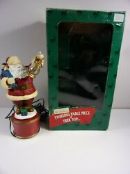 Vintage Mr Christmas 1998 Twiling Table Piece Or Tree Top W/ Lighted Lantern