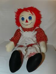 36quot; Beautiful Home Made Cloth RAGGEDY ANN Doll Sewn Face Stuffed w Clothes 65 $22.49