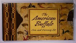 2001 The American Buffalo Coin And Currency Set Boxandcoa Itemj7438