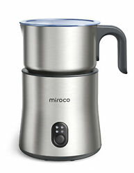 Miroco Electric Stainless Steel Milk Frother 4 In 1 Stainless Steel Silver