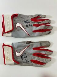 Mike Trout Signed Pair Of 2020 Game Used Nike Batting Gloves 20 G/u Psa