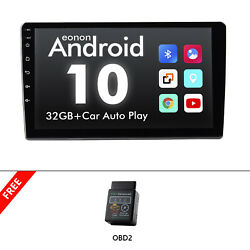 Obd+9 Ips Single 1 Din Android 10 Car Stereo Touch Screen Gps Carplay Mp5 Radio
