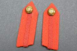 Re Royal Engineers Insignia Gorgets Red Tabs Q/c Pair
