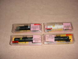 N Scale Roundhouse Tank Cars, 4-cars , Cargill + Stanley + Procor Nib