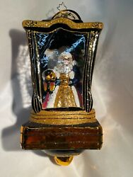 Christopher Radko Limited Edition Lantern And Santa - Lit From Within Ornament