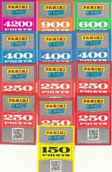 Huge Lot Of Panini Rewards Point Cards - 8550 Total Unused Points - Ship Only