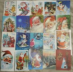 Santa Claus Christmas Postcards Cool Lot Of 180 Postcard - See 9 Scans