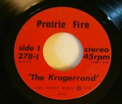 Prairie Fire 45 Got To Fight It And The Krugerrand 1978 Political Minty