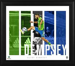 Clint Dempsey Seattle Sounders Framed 15 X 17 Player Panel Collage