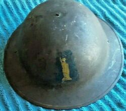 Ww1 Us Aef 77th Statue Of Liberty Infantry Division Insignia Painted Helmet