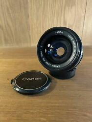 Claand039d Near Mint Canon Fd 28mm F/2 Ssc S.s.c Wide Angle Mf Lens From Japan