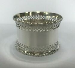 Sterling Silver Pierced Napkin Ring From Birmingham From 1917
