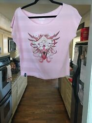 Mercy Pink Shirt Breast Cancer Womens Overwatch Size S Blizzard