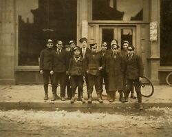 Telegraph messenger boys in New Haven Connecticut 1909 Photo Print $8.99