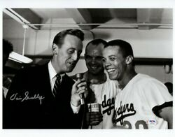 Vin Scully Signed Autographed 11x14 Photo Dodgers Vintage W/wills Psa Aj57542