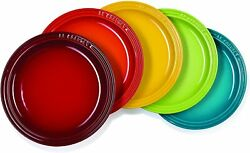Le Creuset Dish Round Plate 23cm Rainbow 5 Colors Set Made In Japan