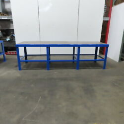36 X120 X 35 Tall 1 Thick Steel Top Work Assembly Fabrication Welding Table