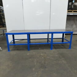 36 X 120 X 35 Tall 1 Thick Steel Top Work Assembly Fabrication Welding Table