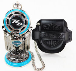 Franklin Mint Harley-davidson Road King Pocket Watch With Stand, Case And Coa